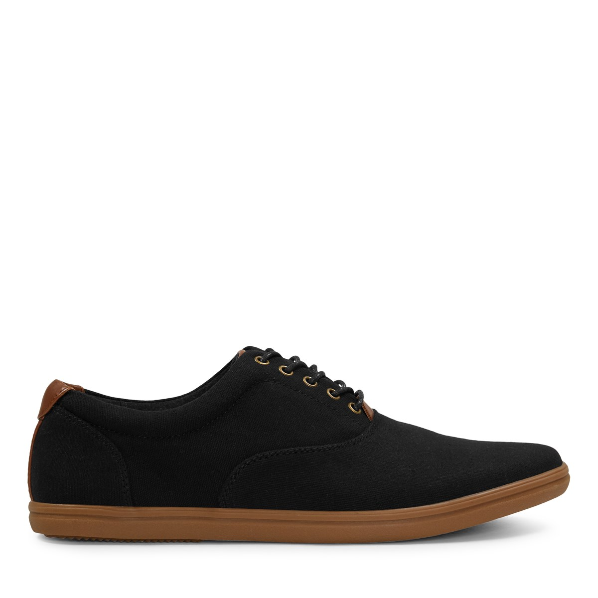 Men's Gustavo Canvas Lace-Up Shoes in Black