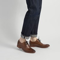 Men's Donto Cognac Leather Lace-Up Shoe