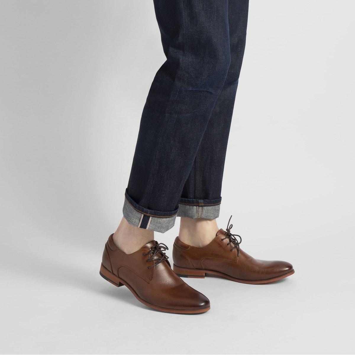 Men's Donto Cognac Leather Lace-Up Shoe