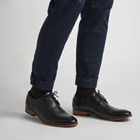 Men's Donto Black Leather Lace-Up Shoe