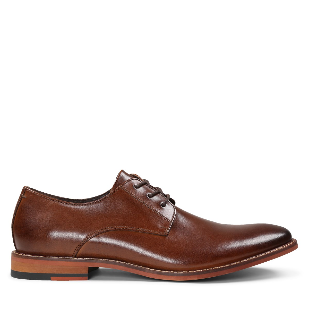 Men's Alberto Cognac Leather Lace-Up Shoe