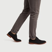 Men's Alberto Black Canvas Lace-Up Shoe