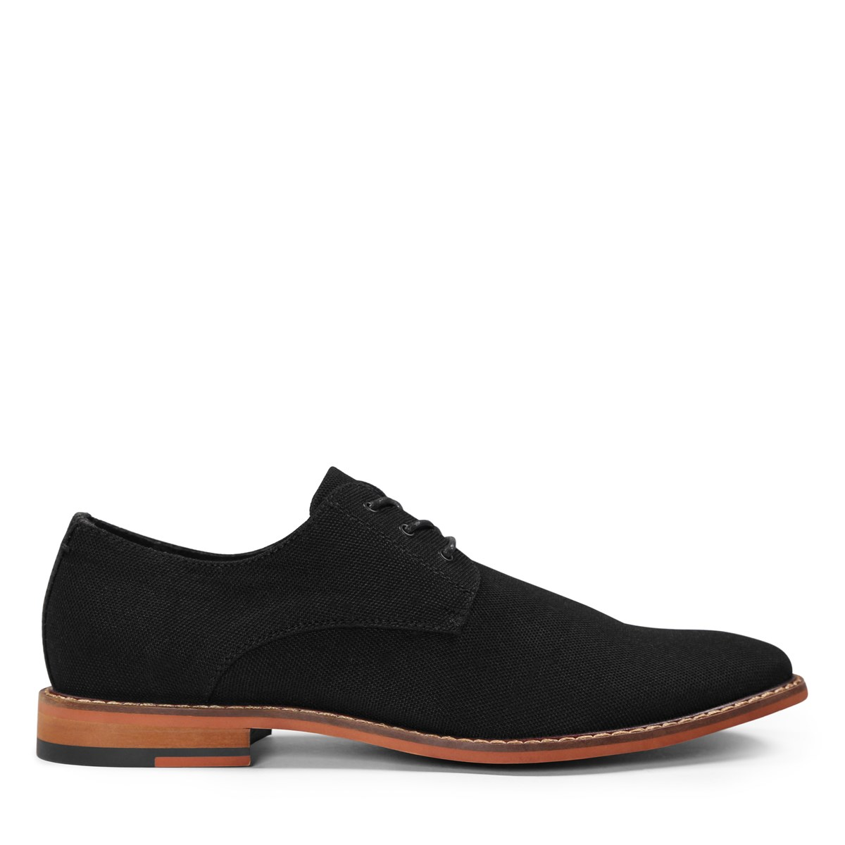 Men's Alberto Nylon Lace-Up Shoes in Black