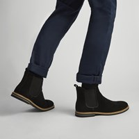 Men's Lucas Cow Suede Boots in Black