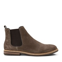 Men's Lucas Cow Suede Boots in Brown
