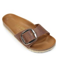 Women's Madrid Big Buckle Sandals in Cognac