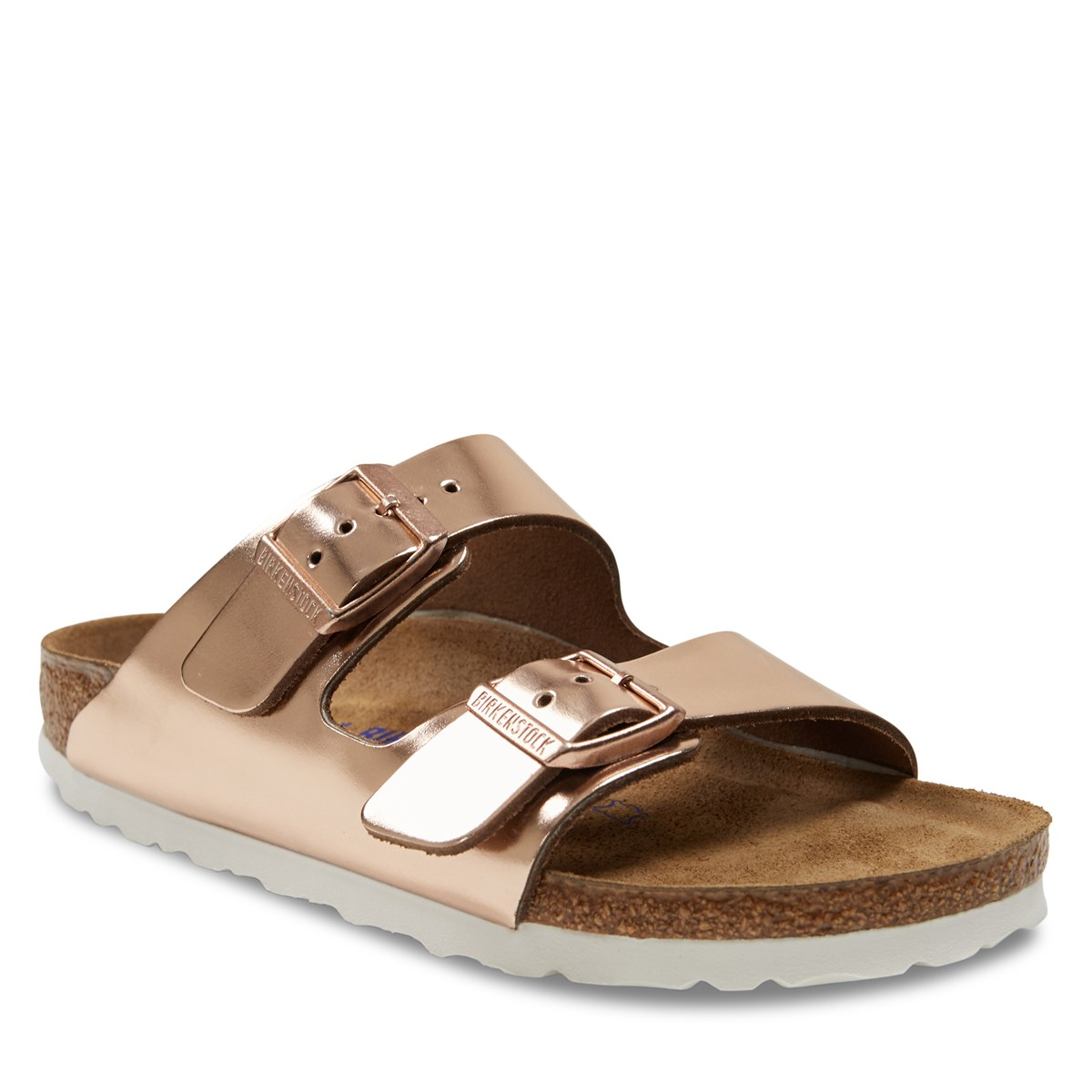 22c8ef993fe5 Women s Arizona Soft Sandals in Metallic Copper. Previous. default view   ALT1  ALT2