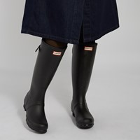 Women's Original Tall Adjustable Rain Boots in Black