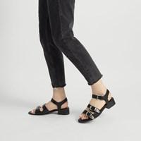 Women's Daisy Black Buckle Sandal