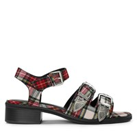 Women's Daisy Buckle Red Check Sandal