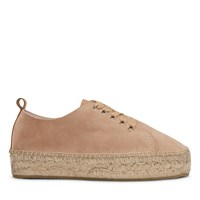 Women's Mia Rope Bottom Platform Espadrilles in Beige