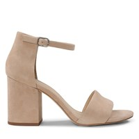 Women's Summer Strappy Heels in Beige