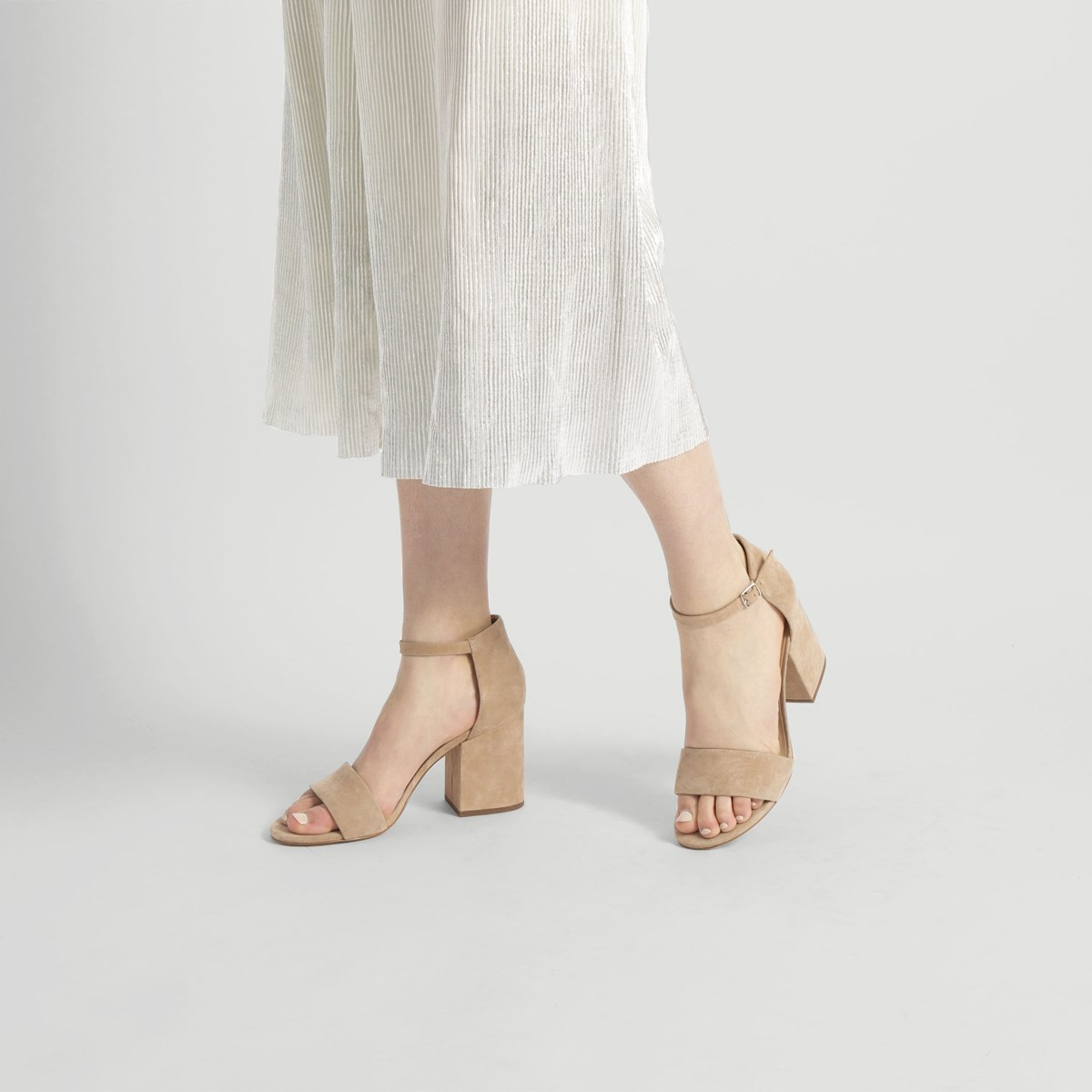 Women's Summer Strappy Nude Heel