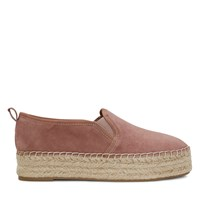 Carrin Platform Espadrille in Dusty Rose