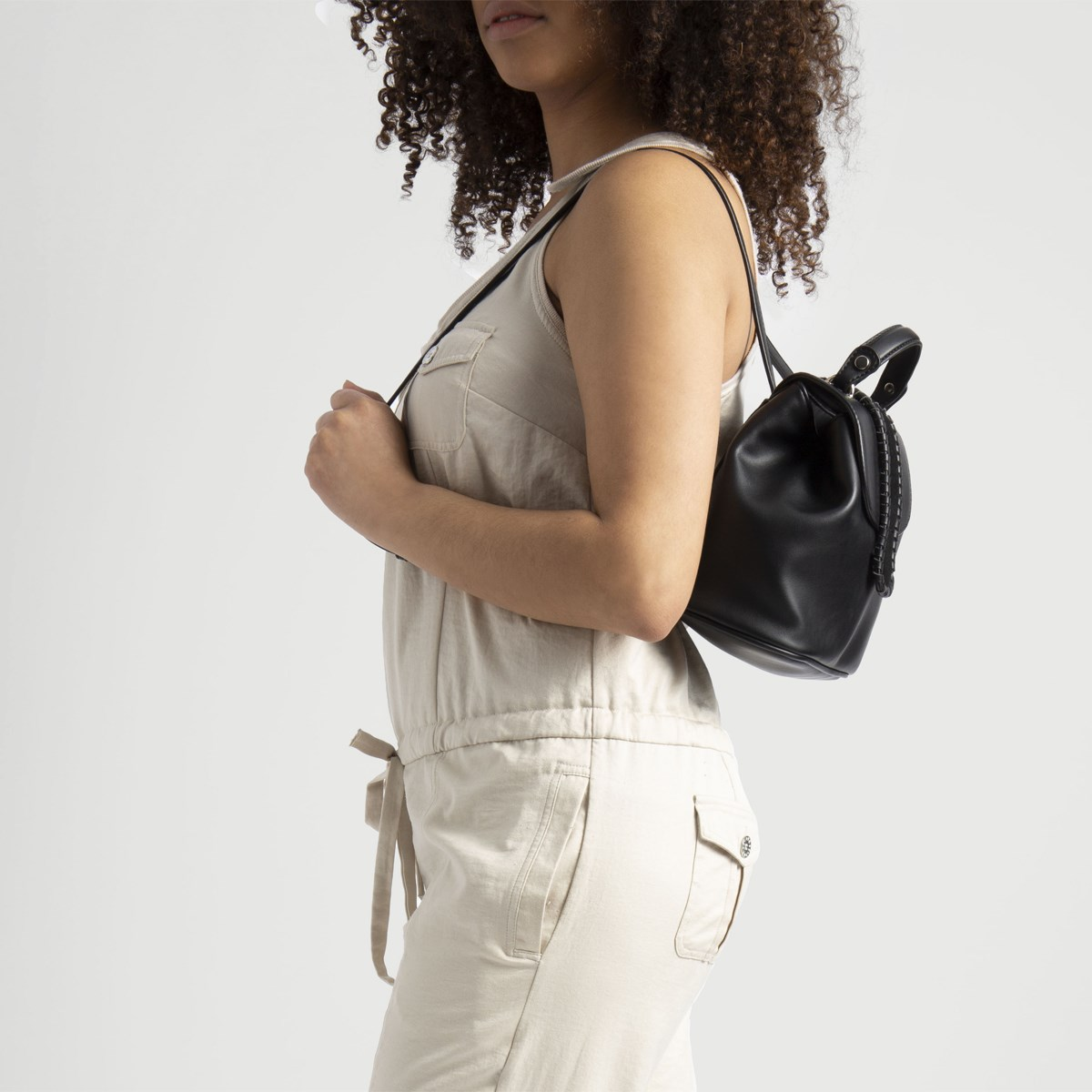Women's Thea Mini Backpack in Black