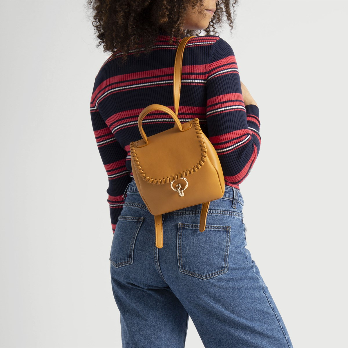 Women's Thea Mini Backpack in Cognac