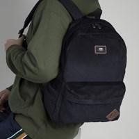 Old Skool II Black Corduroy Backpack