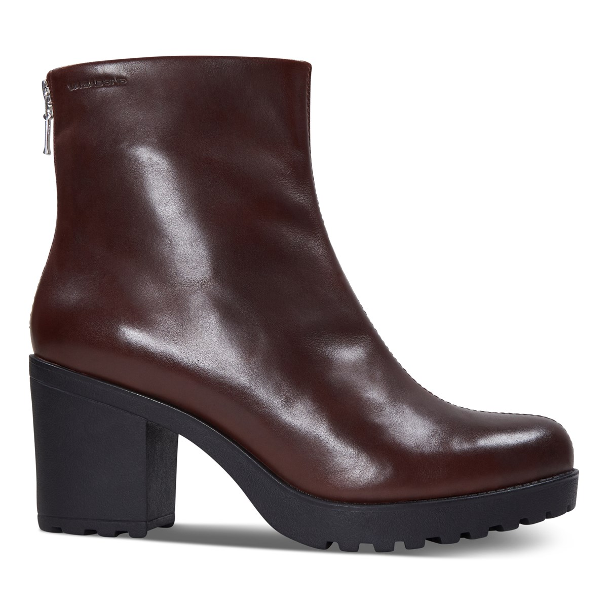 Women's Grace Heeled Boots in Bordeaux