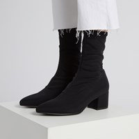 Women's Mya Sock Boot in Black