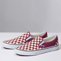 Women's Classic Checkerboard Slip-On in Pink
