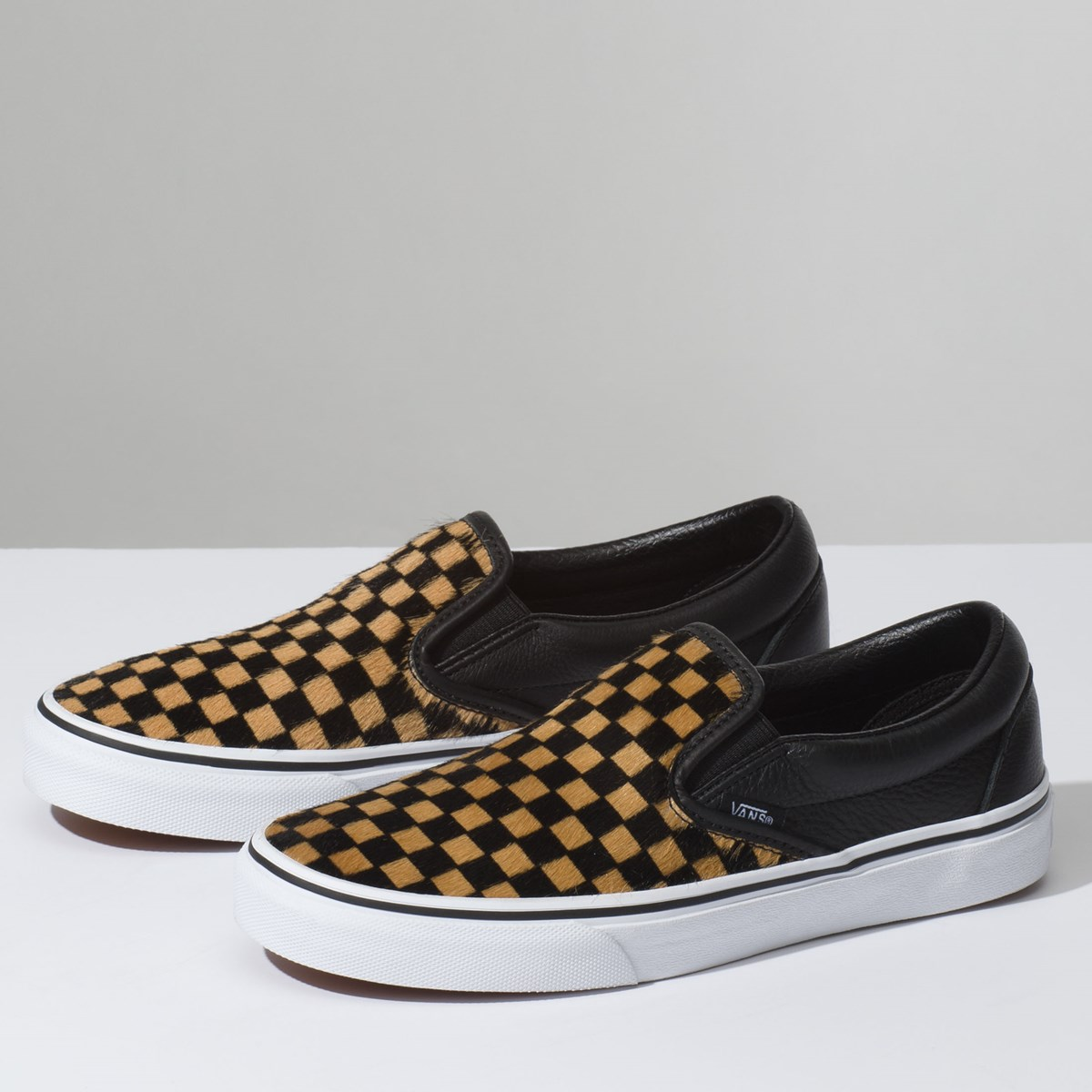 3f890dc18a Women s Classic Slip-on in Checkerboard Black Misc