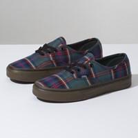 Chaussures tartan vert pour femmes