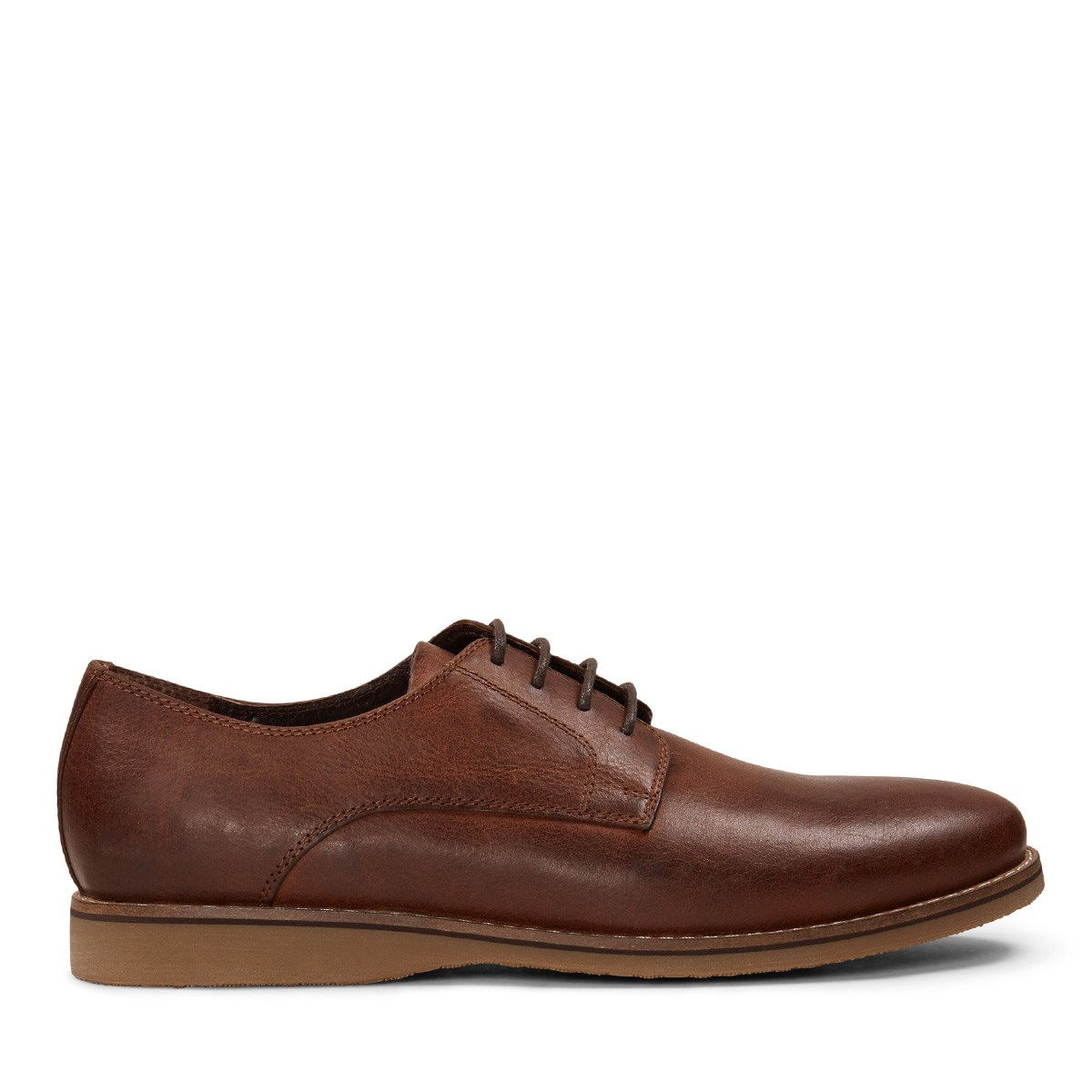 Men's Tan Distressed Leather Lace-Up Shoe