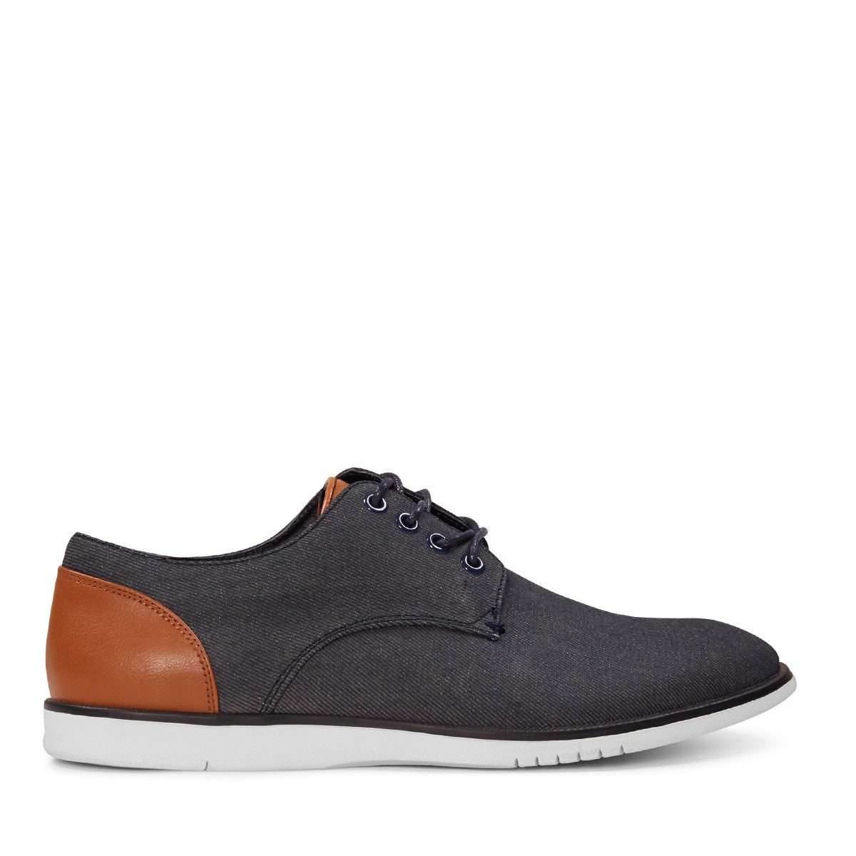 Men's Denim Lace-Up Shoe in Navy