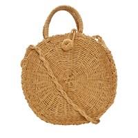 Women's Cora Round Raffia Bag