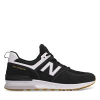 Men's 574 Black Sneaker in Black