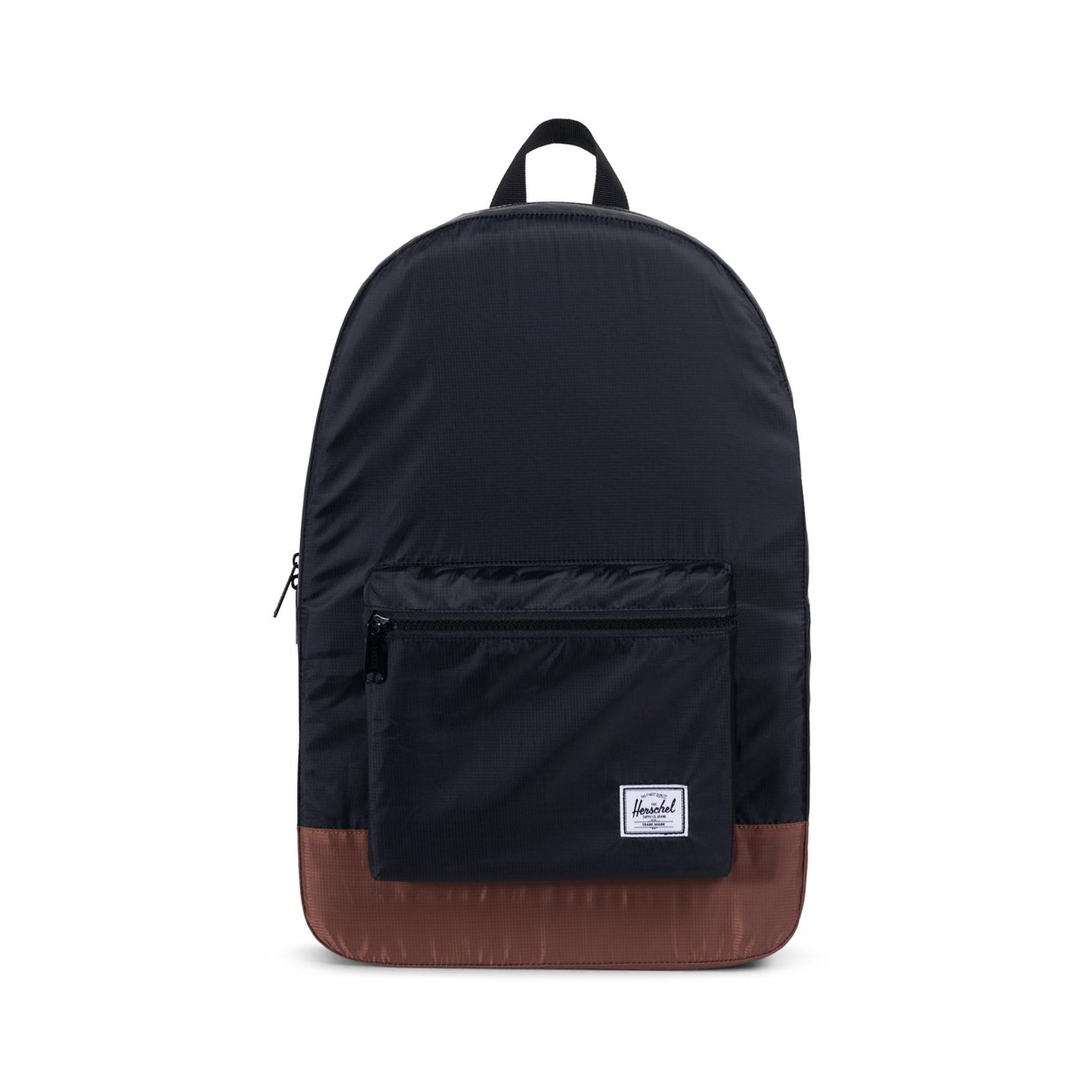 Daypack Backpack in Black and Tan