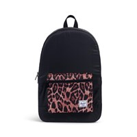 Daypack Backpack in Black and Cheetah Print