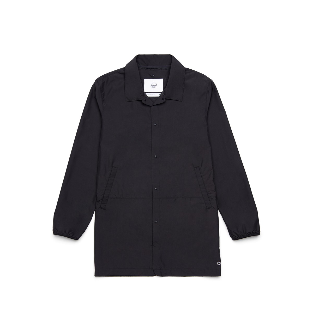 Men's Long Coach Jacket in Black