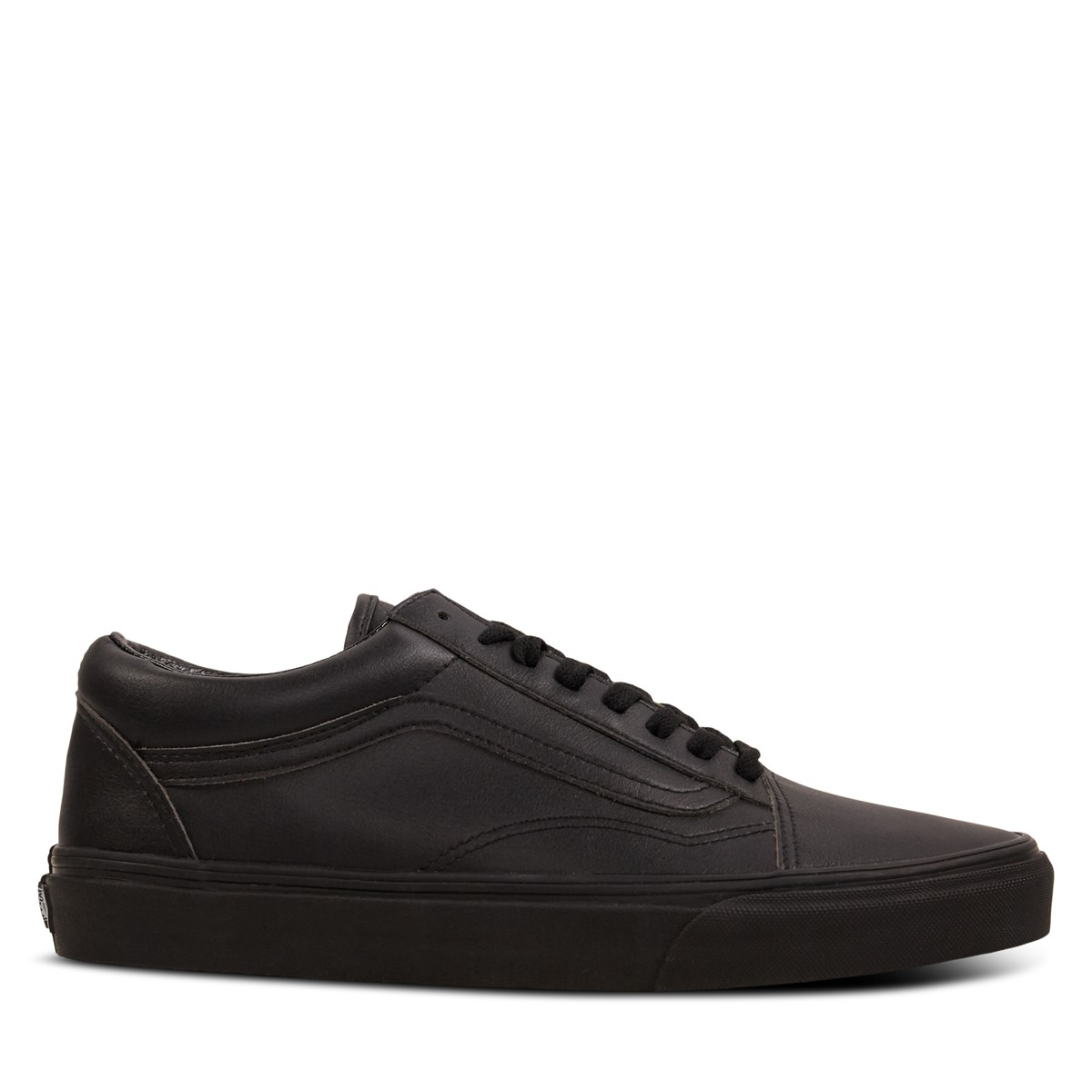 Men's Old Skool Leather Sneakers in Black