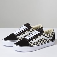 Men's Old Skool Lite Checker Sneaker in Black/White