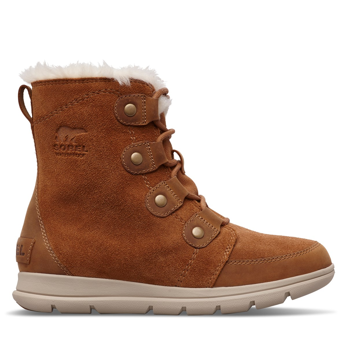 Women's Explorer Joan Boots in Camel Brown