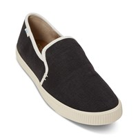 Women's Vegan Clemente Heritage Slip-On Shoes in Black