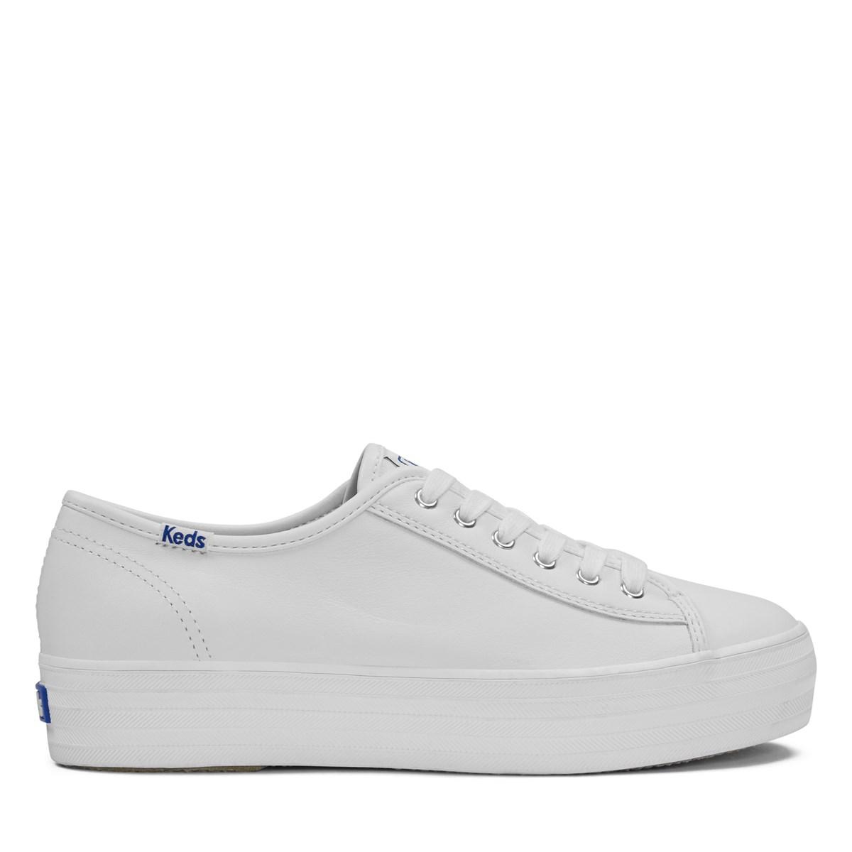 48b985c4298 Women s Triple Kick White Leather Platform Sneaker