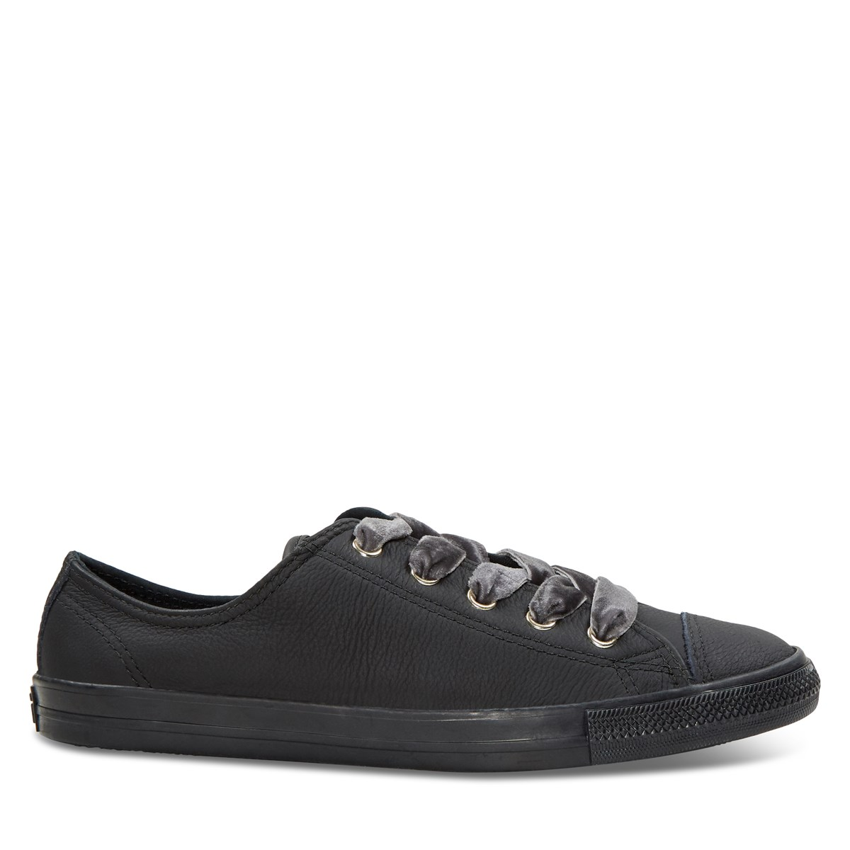 Women's Chuck Taylor Dainty Leather Sneakers in Black