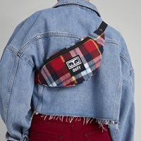 Waisted Hip Bag in Red Plaid