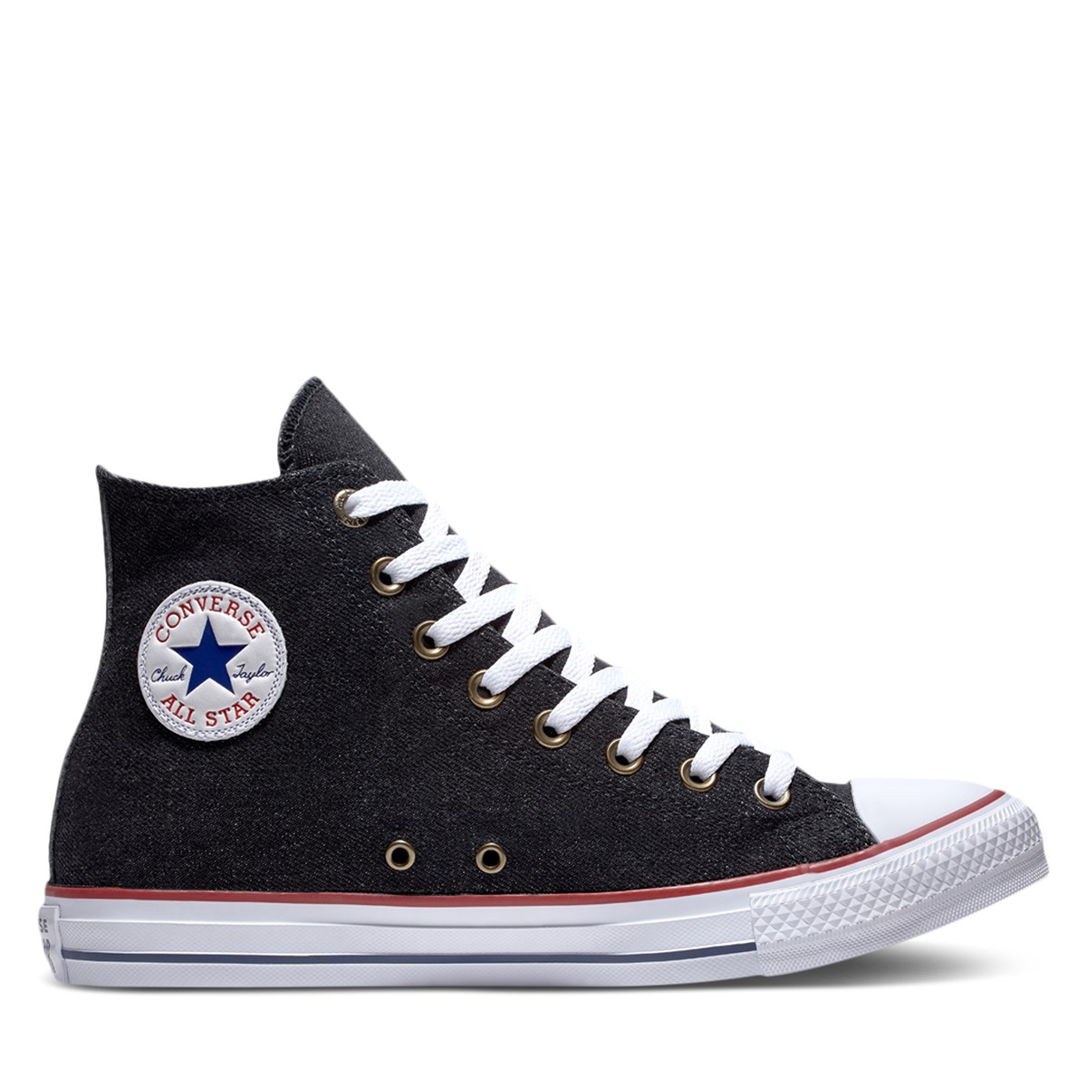 0ed3028609cba9 Men s Chuck Taylor All Star HI Denim Sneaker in Black