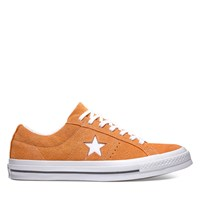 Men's One Star-Vintage Suede Sneaker in Orange