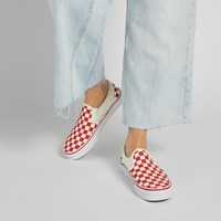 Baskets Primary Check Slip-Ons rouges
