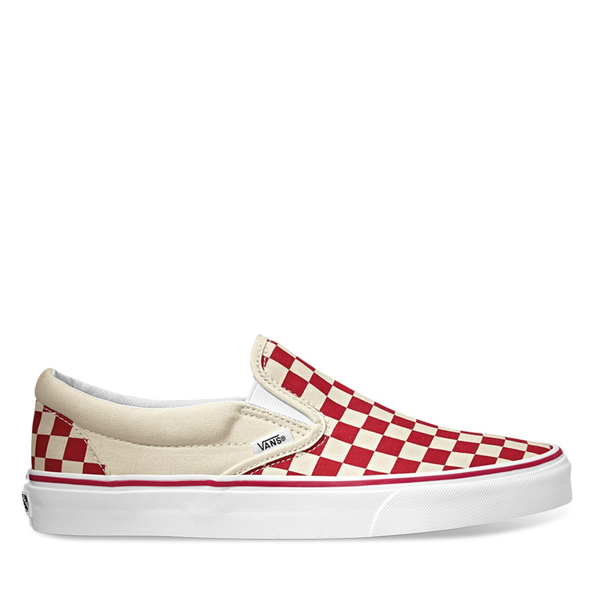 Primary Check Slip/Ons in Racing Red