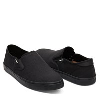 Chaussures sans lacets Baja noires pour hommes