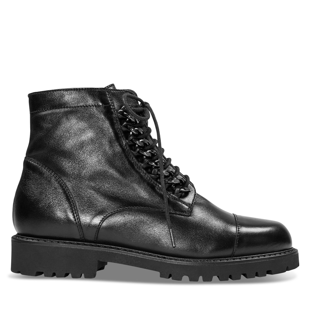 Women's Kaia Lace-Up Boots in Black