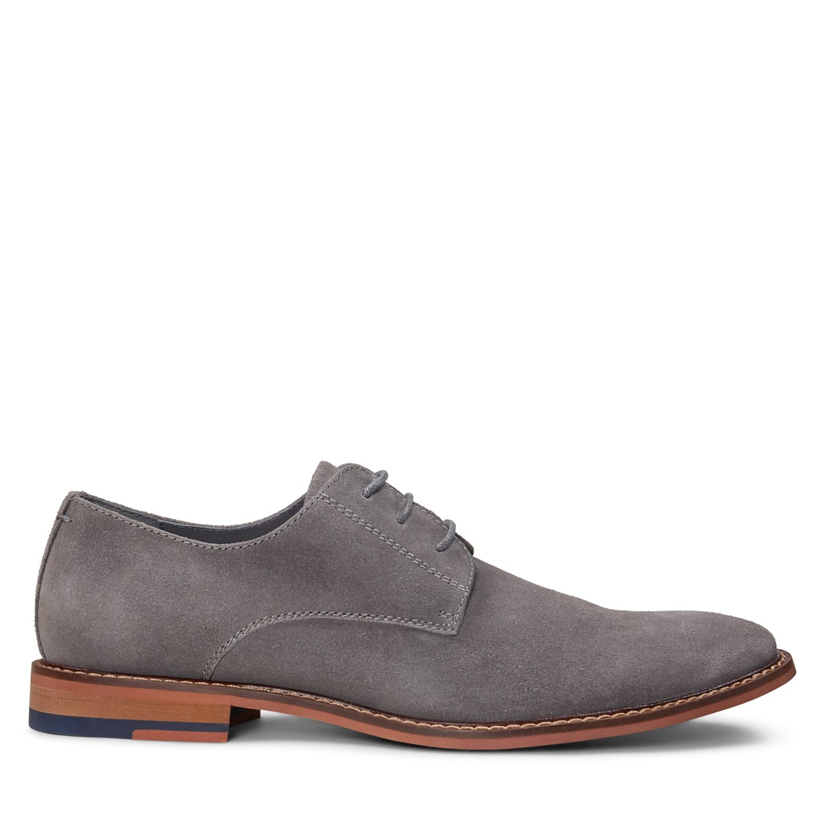 Men's Alberto Lace-Up Shoe in Grey Suede