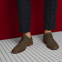 Men's Alberto Lace-Up Shoes in Moss Nylon