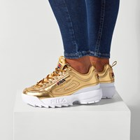 Women's Disruptor II Premium Sneaker in Gold