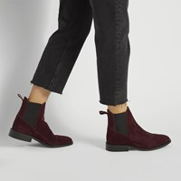Women's Rose Ankle Boot in Aubergine